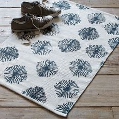 Shibori Printed Cotton Dhurrie from west elm
