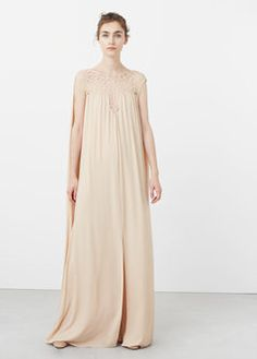 Vestido painel rendado