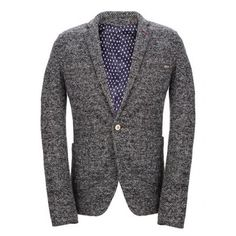 Prezzi e Sconti: #Vintage lapel one button knitting long sleeve Instock  ad Euro 57.36 in #Gray #Mens clothing mens blazers