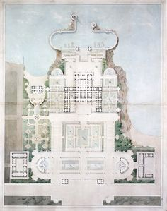 Project for an imperial residence for the city of Nice (ARCHI/MAPS is a treasure trove of architectural goodness!)