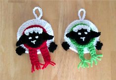 Make these adorable Festive Sheep Ornaments to celebrate I Love Yarn Day. These are great secret Santa gifts, but you can keep them for yourself, too.