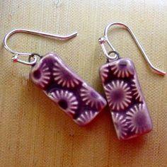 Purple Sunburst Charm Earrings by ShookaLoot on Etsy, $10.00