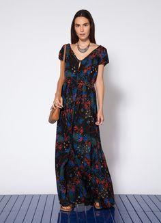 Resultado de imagem para pinterest vestidos  linho estampados