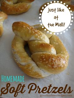 Homemade Soft Pretzels - Just like at the Mall!