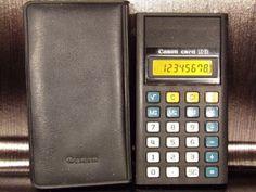 Calculatrice-calculator-pocket-CANON-CARD-LC-31-80-039-s-Japan