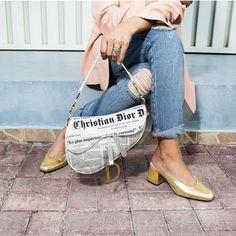 Christian Dior Newspaper Saddle Bag