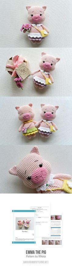 Emma the pig amigurumi pattern