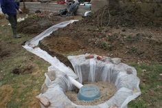 55 gallon barrel dry well