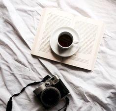coffee | book | camera | ❀ krystalynlaura