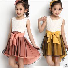 4-14 Anos de Idade da menina Colete vestido de cauda de Andorinha Verão vestido da menina crianças princesa desempenho vestido de comércio exterior