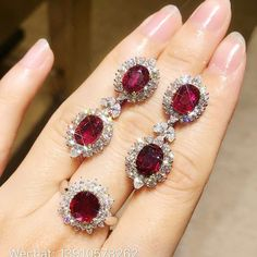 @vanvan_jl_jewelry. 8.05ct unheated pegion blood rubies with 5.92ct diamonds