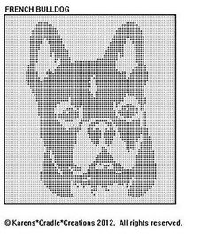 french bull dog cross stitch -