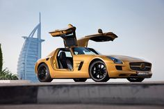 "Mercedes-Benz SLS AMG, ""Desert Gold"" Special Edition. Only for sale in UAE.     www.jaxsprats.com   Jaxsprats Unique Collectibles    ""If it's unique, we have it"""