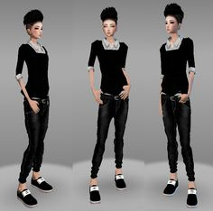 IMVU ~†~ Style to rock ~†~  A customize style of Simple Tboy outfit 1. My own style fashion :) Female gender. Please click picture for full size :)