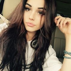 "Maggie Lindemann on Instagram: ""I bit my lip sooo"" ❤ liked on Polyvore featuring maggie lindemann, hair and maggie"