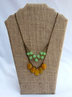 Jade and Mustard Necklace