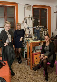 Nel laboratorio Comotto di Genova