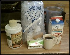 Breakfast coffee smoothie ingredients