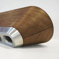 Philips Speaker concept - pressed wood rear cabinet with aluminum bass port detail. #productdesign #audio #design #concept #greymatterdesign #speaker #bluetooth #bluetoothspeaker