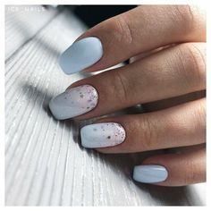 Semi-permanent varnish, false nails, patches: which manicure to choose? - My Nails Square Acrylic Nails, Square Nails, Short Nail Designs, Nail Art Designs, Nails Design, My Nails, Hair And Nails, Blue Gel Nails, Baby Blue Nails