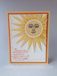 Stampin Up! Ray of Sunshine by #lepapierpalette