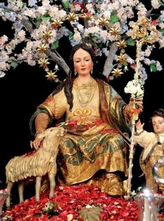 Divina Pastora de CantillanaMary as the Divine Shepherdess in Cantillana in Andalusia, Spain.