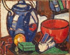 The Red Bowl, by Margaret Morris England but lived much of her life in Scotland, painting under the influence of J. My Favorite Part, My Favorite Color, Red Bowl, Still Life Art, Art Uk, Classical Art, Your Paintings, Painting & Drawing, Illustration Art
