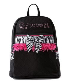 This backpack boasts a roomy main compartment for gymnastics gear or school  supplies and has a fabulously embellished exterior for a little glitz and  glam. ec877b40be68d