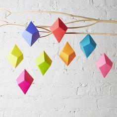 geometric gem ornaments