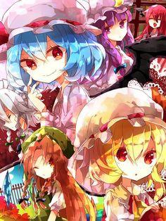Touhou All Anime, Anime Chibi, Manga Anime, Touhou Anime, Fan Art, Animated Cartoons, Kawaii Art, Anime Artwork, Cute Images