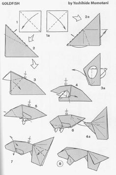 Origami Goldfish, Origami Fish Easy, Origami Set, Origami Butterfly, Paper Crafts Origami, Oragami, Origami Design, Origami Instructions Easy, Origami Tutorial