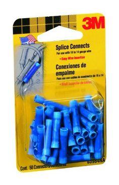 Blue Install Bay 3M Spade Terminal Connector Vinyl 16//14 Gauge #8-100 Pack