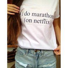 I do Marathons on Netflix Shirt by WildRepublicDesigns on Etsy