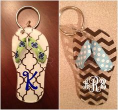 Personalized Acrylic Flip Flop Keychain with by PiperGraceGifts