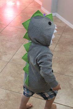 Dino Rex Hoodie. I totally had something like this as a kid, Colton needs one too!