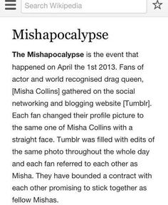 KEEP SPREADING IF YOU WANT ANOTHER MISHAPOCOLYPSE IN 2015>>IM NOT EVEN IN THE FANDOM BUT I WILL