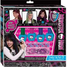Buy Monster High Funky Fab Hair Chalk Colour and Beading Kit at Argos.co.uk - Your Online Shop for Make-up and beauty toys. Holly?