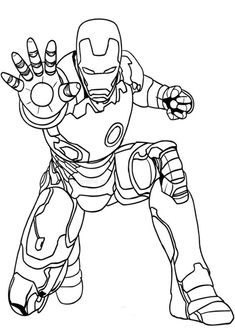 Fun Iron Man coloring pages for your little one. They are free and easy to print. The collection is varied with different skill levels Hulk Coloring Pages, Avengers Coloring Pages, Superhero Coloring Pages, Marvel Coloring, Coloring Books, Art Drawings For Kids, Easy Drawings, Desenho Kids, Avengers Drawings