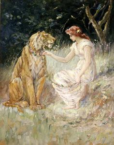 Frederick Stuart Church (1842 – 1924)Lady And The Tiger