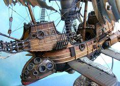 art Model fantasy steampunk airship airships steam punk steampunk tendencies flying ship Scale models