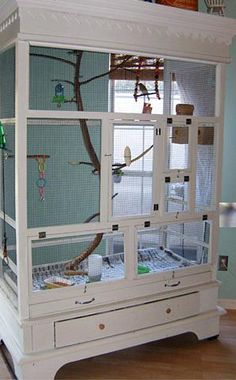 How To Make An Armoire Birdhouse...I want to make this for my bird!