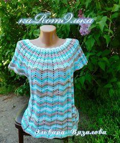 New Woman's Crochet Patterns Part 9 - Beautiful Crochet Patterns and Knitting Patterns Crochet T Shirts, Crochet Tunic, Crochet Jacket, Crochet Clothes, Crochet Top, Zig Zag Crochet, Cute Crochet, Beautiful Crochet, Crochet Summer Dresses