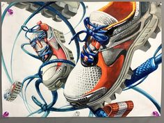 Running Shoes, Blenders, Sneakers, Drawing, Design, Fashion, Runing Shoes, Tennis, Moda