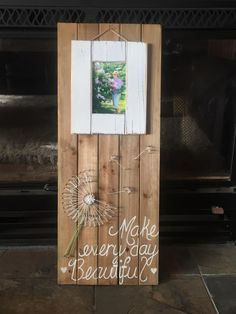Wood Dandelion Frame made by Tara Dahl (from Michael's contest entry)