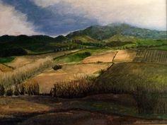 """A Distance of Fields"" (Award) Original Gouache/canvas: Framed   Available Contact: MB.artwork@verizon.net"