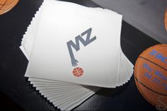 Napkins printed with the Bar Mitzvah logo. | MitzvahMarket.com