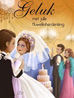 Geluk met julle Huweliksherdenking Wedding Illustration, Fun Illustration, Just Married, Getting Married, Creation Photo, Art Themes, Art Graphique, Cute Images, Women Life