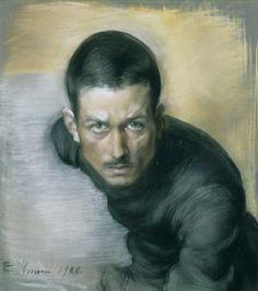 EINAR ILMONI Self-Portrait (1910) Art Curator & Art Adviser. I am targeting the most exceptional art! Catalog @ http://www.BusaccaGallery.com