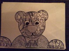 Zentangle bear, by mother and son (6)
