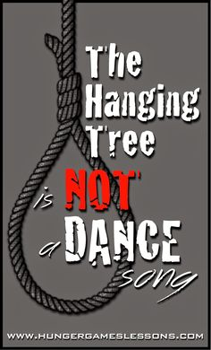 """The Hanging Tree"" is NOT a dance song - Blog post and classroom connections activity on www.hungergameslessons.com"